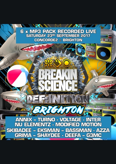 BREAKIN SCIENCE BRIGHTON (SEPT 2017) - 6 x MP3 PACK BOX