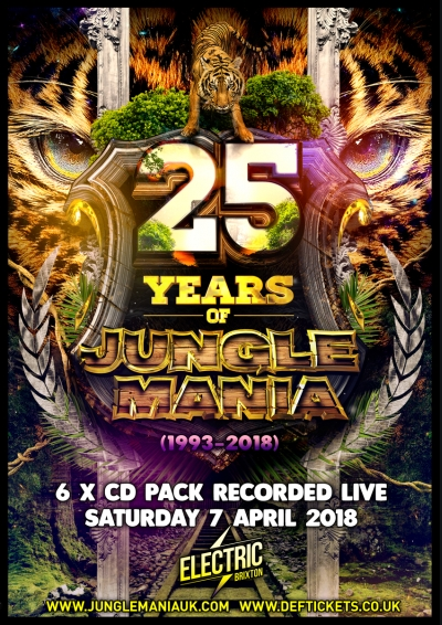 25 Years of Jungle Mania - London (April 2018) - 6 x CD Pack - PreOrder