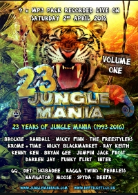 23 YEARS OF JUNGLE MANIA (APRIL 2016) - 9 x MP3 PACK VOL 1