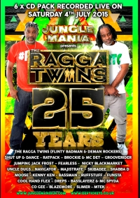 25 YEARS OF THE RAGGA TWINS – 6 x CD PACK