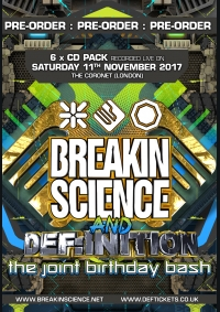 BREAKIN SCIENCE & DEF:INITION BDAY BASH 2017 – 6 X CD PACK