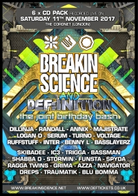BREAKIN SCIENCE & DEF:INITION BDAY BASH 2017 - 6 x CD PACK NEW