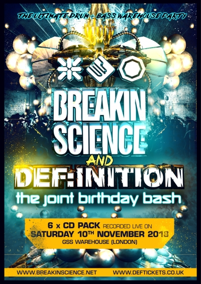 BREAKIN SCIENCE & DEF:INITION BDAY BASH 2018 : 6 X CD PACK pre