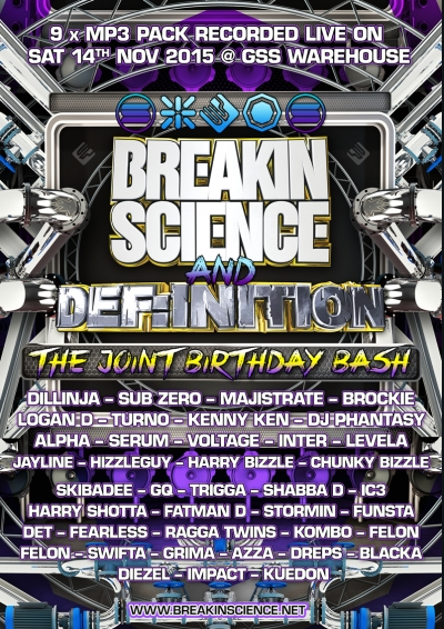 breakin science definitiondnb joint birthday bash 2015 mp3 pack