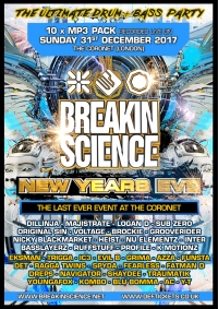 BREAKIN SCIENCE NYE 2017 10 x MP3 SET PACK