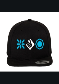 BREAKIN SCIENCE SNAPBACK – BLACK / BLUE & WHITE