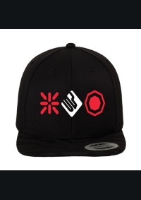 breakin snap back black red white