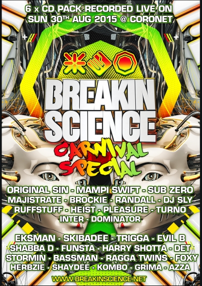 breakin science carnival special - august 2015 - cd pack