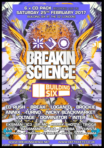 BREAKIN SCIENCE @ BUILDING SIX (FEB 2017) – 6 X CD PACK