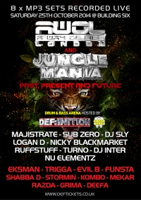 DEF:INITION & SWEET TOOTH RECS @ AWOL meets Jungle Mania (Oct 2014) - 8 x MP3 PACK