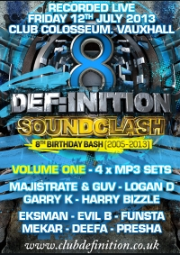 DEF:INITION 8TH BIRTHDAY - VOLUME 1 (4 x MP3 PACK)