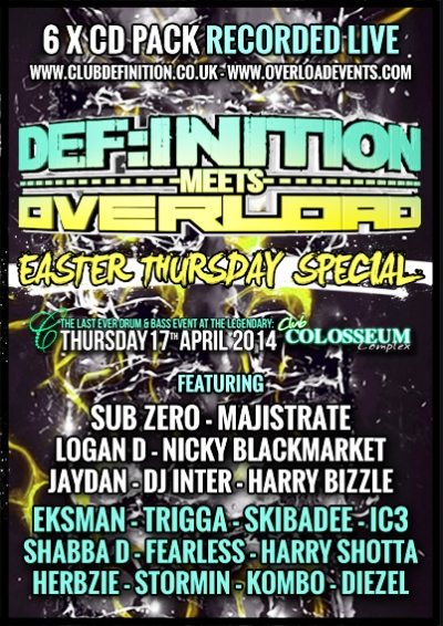DEF:INITION meets OVERLOAD - EASTER SPECIAL (APRIL 2014) 6 x CD PACK