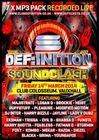 DEF:INITION SOUNDCLASH (MARCH 2014) - 7 x MP3 PACK