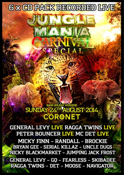 JUNGLE MANIA CARNIVAL SPECIAL 2014  (6 x CD PACK)