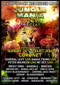 JUNGLE MANIA CARNIVAL SPECIAL 2014  (8 x MP3 PACK)