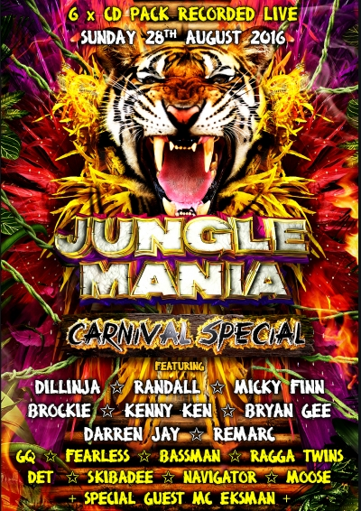 JUNGLE MANIA CARNIVAL SPECIAL 2016 – 6 X CD PACK