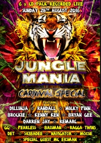 JUNGLE MANIA CARNIVAL SPECIAL 2016 @ CORONET - 6 x CD PACK