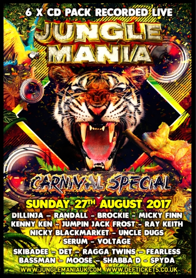 Jungle Mania Carnival Special 2017 - cd pack