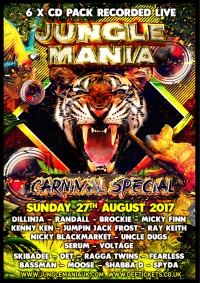 JUNGLE MANIA CARNIVAL SPECIAL 2017 – 6 X CD PACK