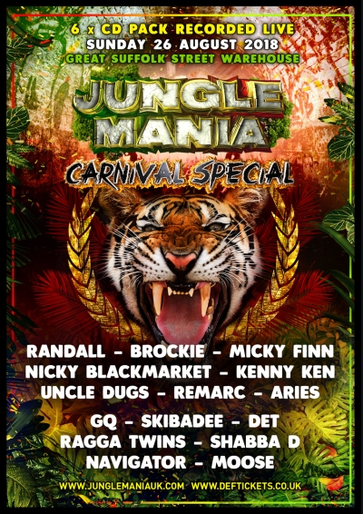 JUNGLE MANIA CARNIVAL SPECIAL 2018 : 6 x CD PACK