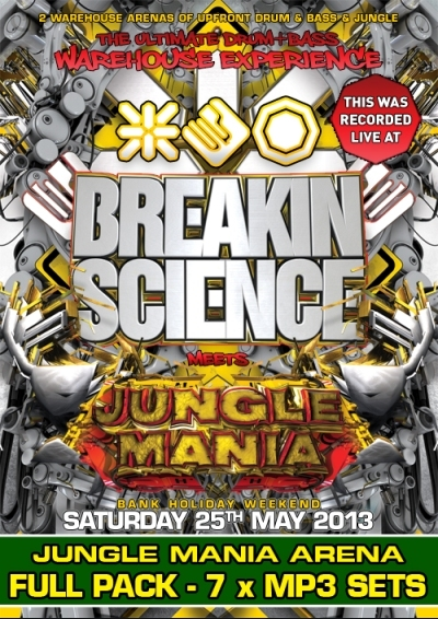 JUNGLE MANIA meets BREAKIN SCIENCE -  7 x MP3 JUNGLE PACK