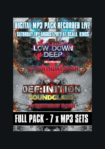 LOW DOWN DEEP 6TH BIRTHDAY BASH & DEF:INITION 7TH BIRTHDAY BASH AUGUST 2012