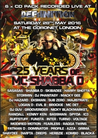 25 YEARS OF SHABBA D – 6 x CD PACK